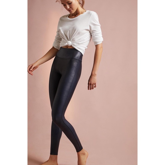 b6f75e138 Spanx Faux Leather Leggings in Navy